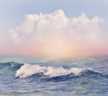 Beautiful Sky and Sea Background 版權商用圖片