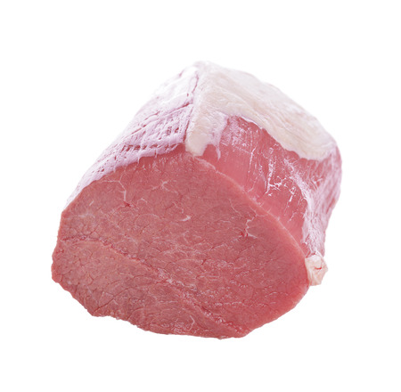 raw beef: Eye Round Roast Beef Isolated on White Background