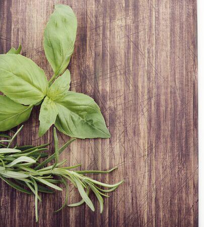 Fresh Herbs on Cutting Board