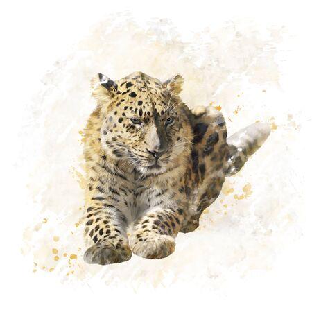 표범 초상화의 디지털 페인팅