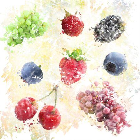 Het digitale Schilderen van Aquarel Fruits