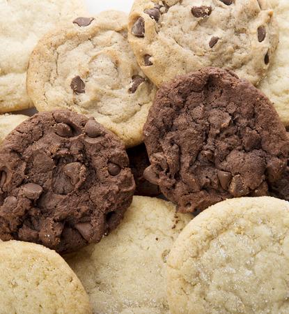 Pila de galletas de azúcar frescas, de cerca Foto de archivo - 65836780