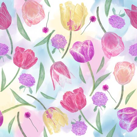 seamless  floral pattern . Endless texture for your design.