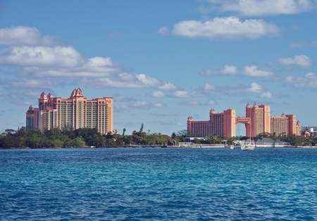 NASSAU, BAHAMAS - January 7 ,2019. The Atlantis Paradise Island resort, located in the Bahamas. Éditoriale