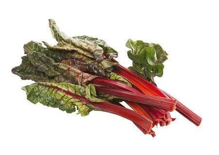Fresh swiss chard, isolated on white background Stock Photo