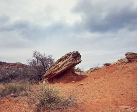 Rocks  formations in Palo Duro Canyon State Park in Texas.