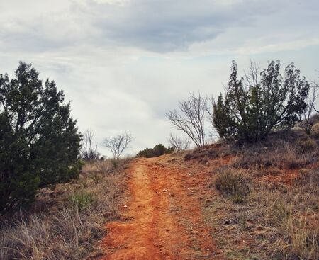Walking path in Palo Duro Canyon state park.Texas.