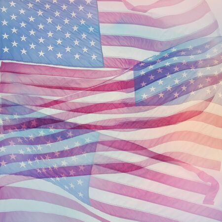 American flag close up ,abstract background