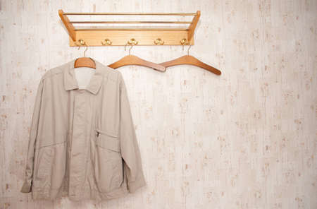 Indoor shot of an old fashioned  vintage wardrobe