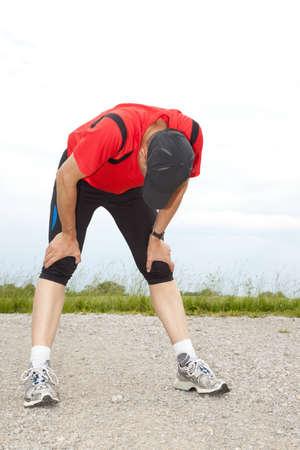 Deportista agotado despu�s de su carrera