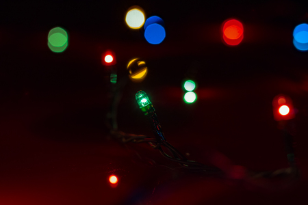Christmas lights on the background