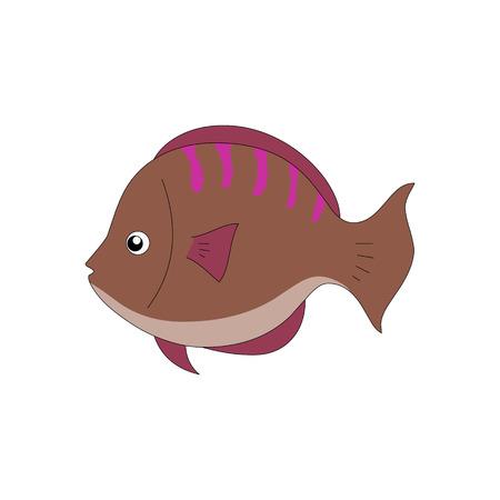 brown: brown fish Illustration