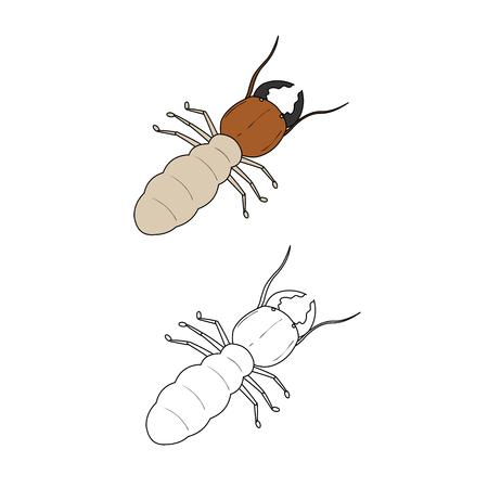 Ilustración de la termita Foto de archivo - 62185766
