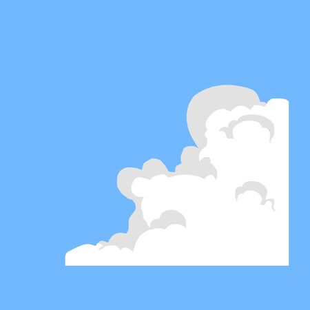 cloud shape: the smoke of burning Illustration