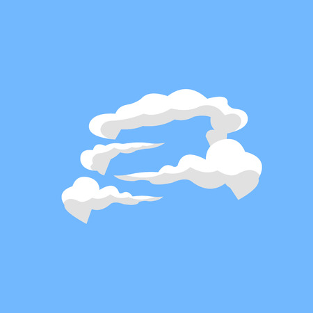 cloud on the mountain Illustration