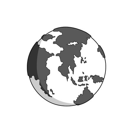 earth moving: asian and african globe