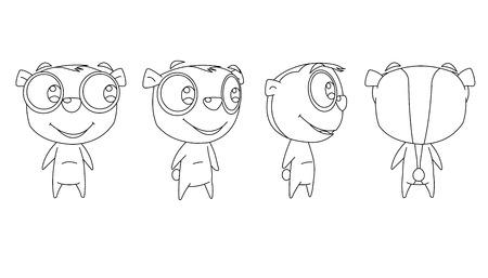 lemur: lemur cartoon set