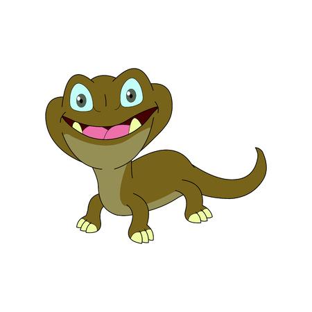 Lizard Cartoon Illustration