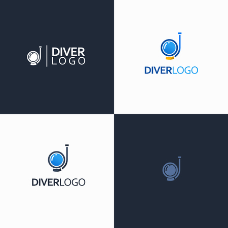 diving equipment: diver with diving equipment symbol