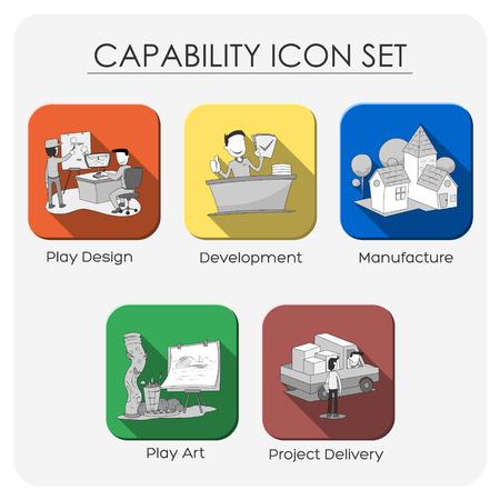 proficiency: capability icon set