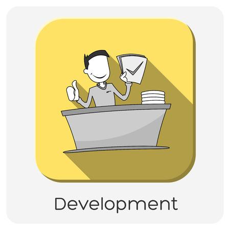 yellow development icon