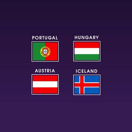 bandera de portugal: flag euro. Portugal, Hungría, Austria, Islandia