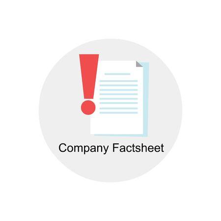 fact: company fact sheet icon