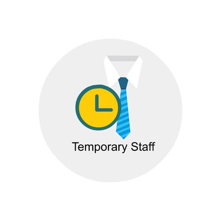 on temporary: temporary staff icon