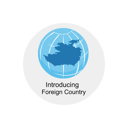 introducing: introducing foreign country icon Illustration