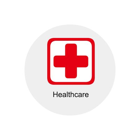 healt: red healthcare icon Illustration