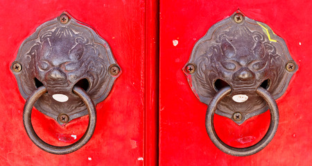 locked: key locked in Chinese temple