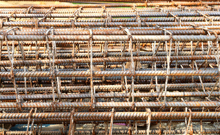 armature: iron armature for construction work used as background Stock Photo
