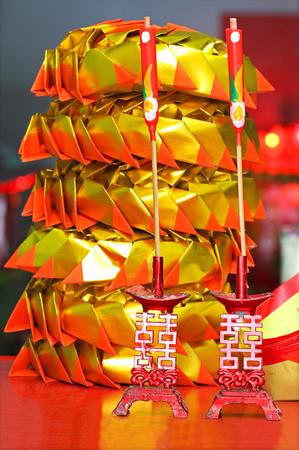 predecessor: The offerings for predecessor of Chinese festival Stock Photo