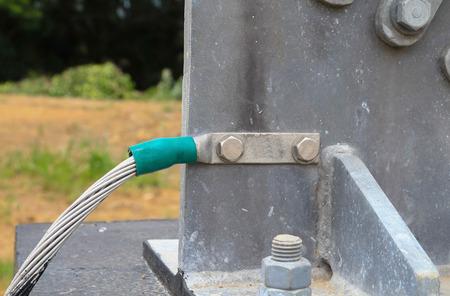 aardingskabel, eenheid vast verbonden ter bescherming bouw