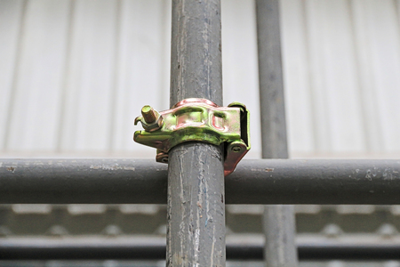 anodized: Scaffolding pipe clamp and parts, An important part of building strength to scaffold.