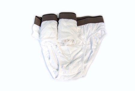 man underwear: close up of man underwear,white pants Stock Photo