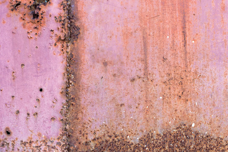 metal corrosion: Metal plate covered with corrosion and old paint rusty grunge background