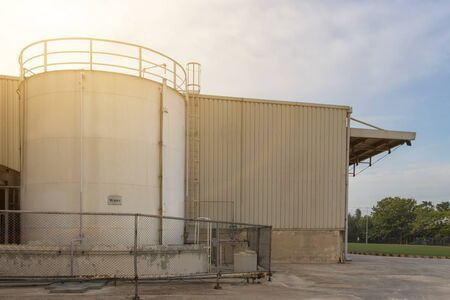 Large water tank for fire fighting in industrial process,safety first