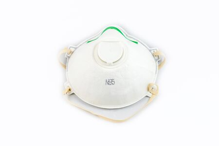 Protection respirator for Filter face mask safeguard on white background 免版税图像