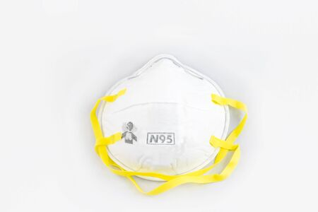 Protection respirator for Filter face mask safeguard on white background Reklamní fotografie