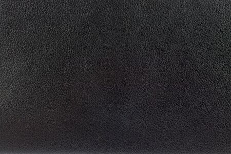 Closeup surface black leather texture background