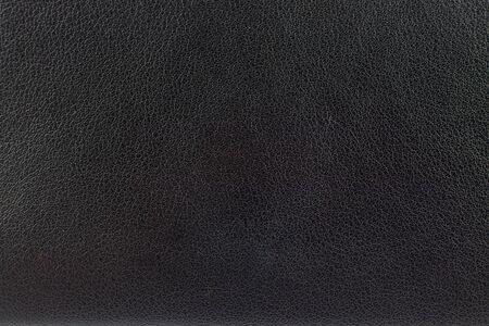 Zbliżenie powierzchni czarnej skóry tekstury tła