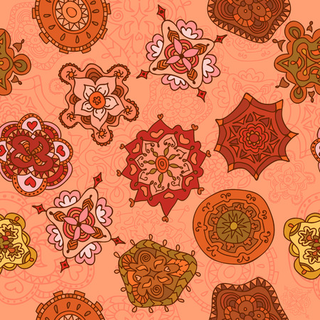 Vector seamless abstract hand-drawn pattern, endless texture. Vector illustration Vector