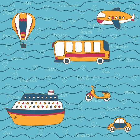 Summer travel design Vector
