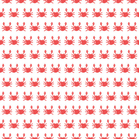Crab seamless pattern. Vector
