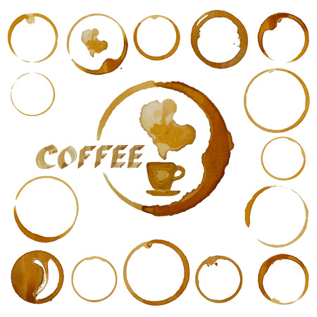 coffee stain: coffee cup stains