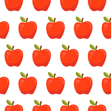 red apples: Seamless pattern with red apples Illustration