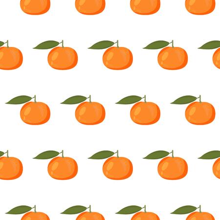 mandarins: Cute seamless pattern with mandarins Illustration