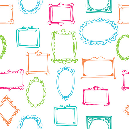 Seamless pattern with colorful frames