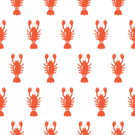 lobster isolated: Lobster seamless pattern